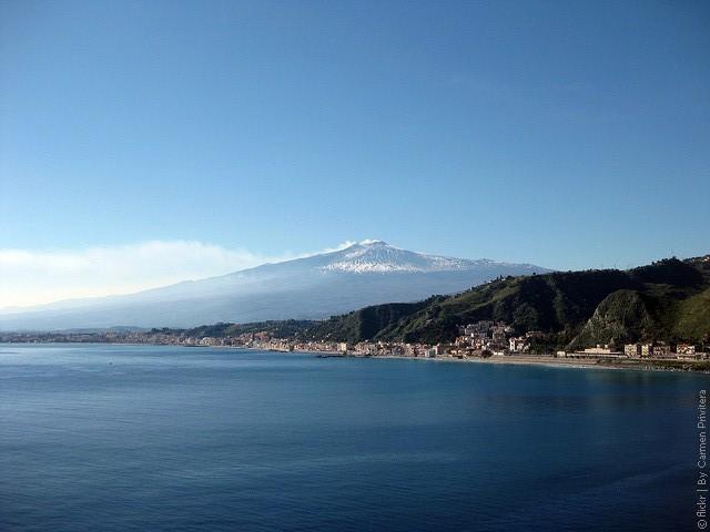 координаты вулкана Этна