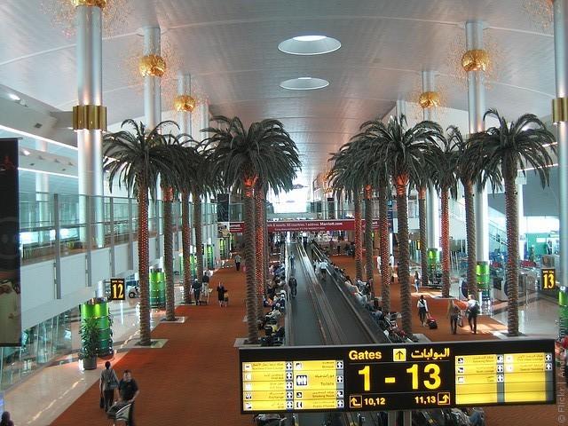 Аэропорт Дубай  на карте мира