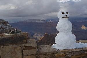 Гранд-Каньон после снежной бури
