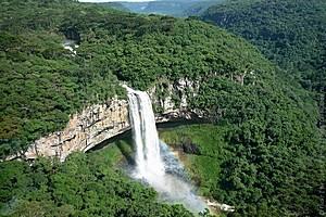 Водопад Каракол в Бразилии