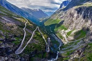 Лестница троллей в Норвегии