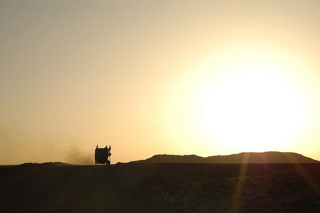 Нубийская пустыня в Африке