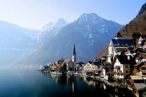 Город Гальштат в Австрии