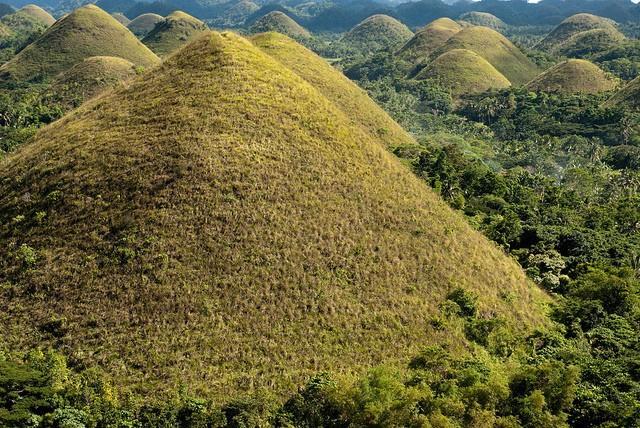 Шоколадные холмы  на Филиппинах фото