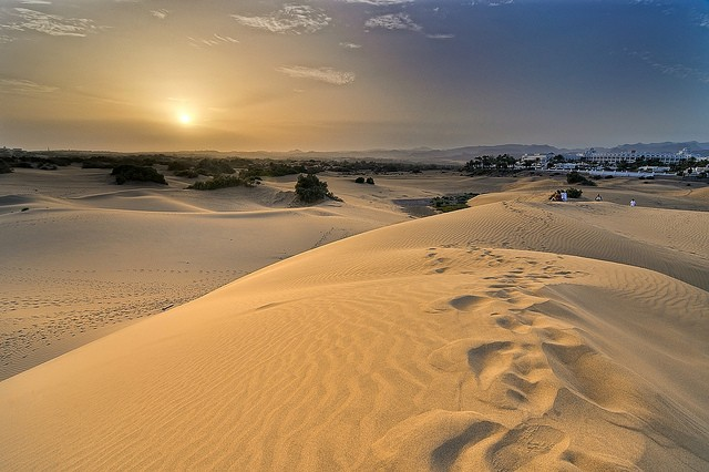 дюны маспаломас на карте
