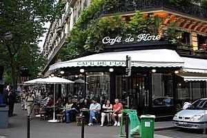 Кафе де Флор, Париж, Франция.