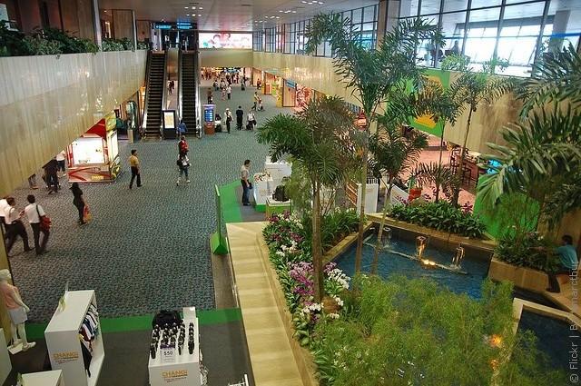 Для того, чтобы пассажиры в ожидании полета не скучали в аэропорту Сингапура Changi придумали аттракцион.