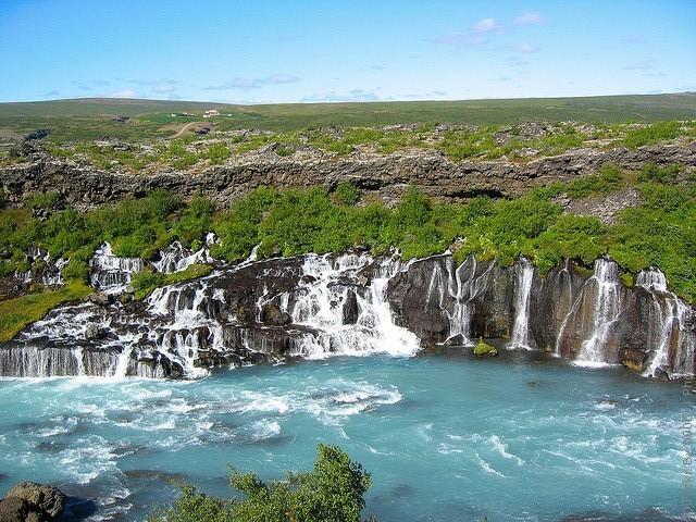 Водопад Храунфоссар 13