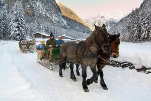 Горнолыжный курорт Бад-Гаштайн, Австрия.