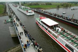 Магдебургский водный мост, Германия.