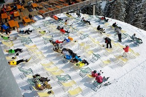 Горнолыжный курорт Китцбюэль, Австрия.