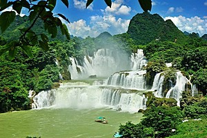 Водопад Детиан (Detian Falls)