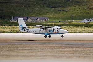 Аэропорт Барра в Шотландии