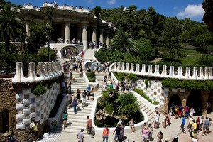 Парк Гуэля в Барселоне, Испания.