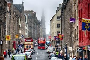 Королевская Миля в Эдинбурге.