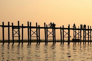 Деревянный мост Убэйн, Мьянма.
